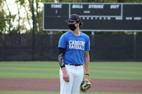 Brandon Harris on the mound at Cabrini University